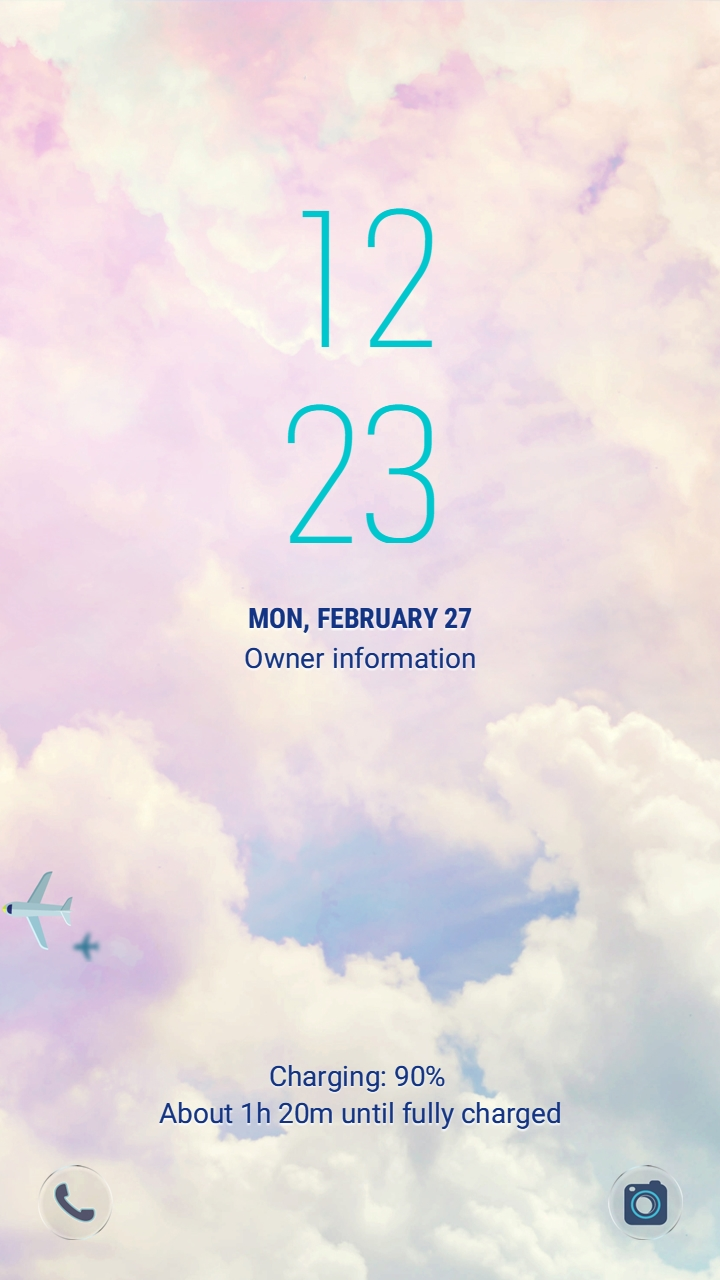 Travel in the sky_lockscreen