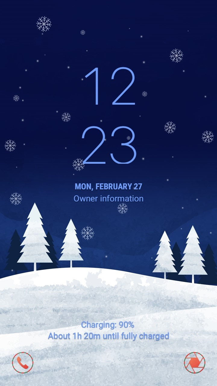 Silent Christmas_lockscreen