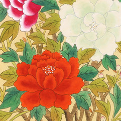 Colorful Moran-do (Paintings of Colorful Peonies
