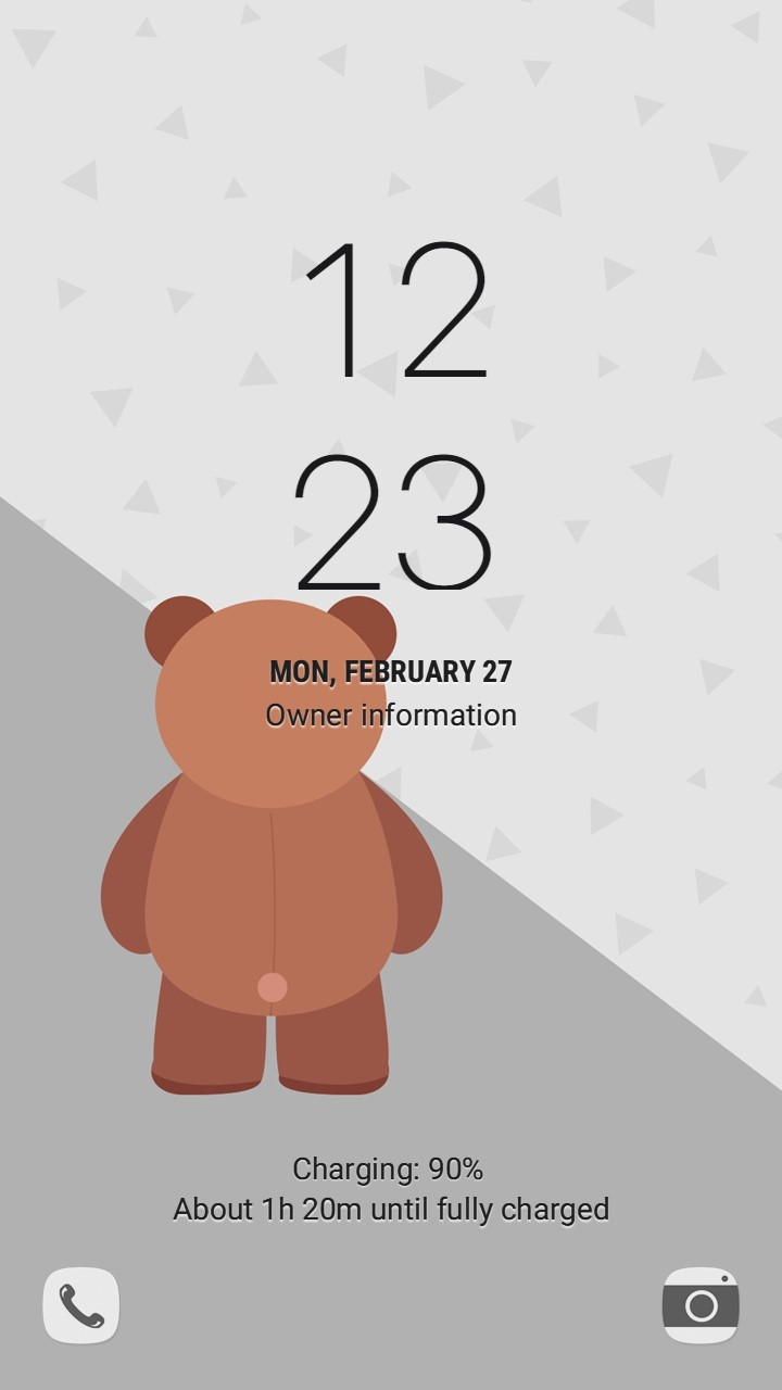 Lonely Daddy bear_lockscreen