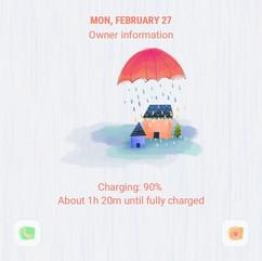 Watercolor rain