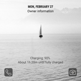 A lone boat_lockscreen