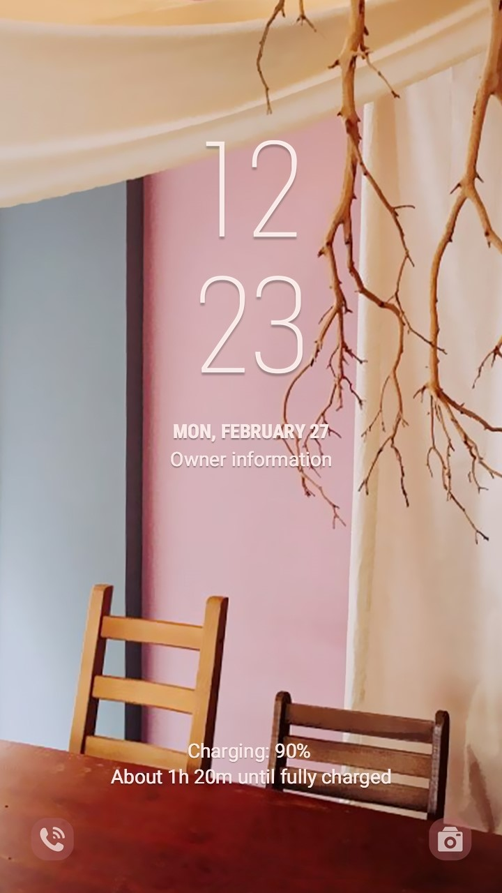 Warm and Sensible pink space_lockscreen