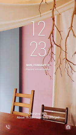 Warm and Sensible pink space_lockscreen