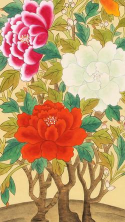 Colorful Moran-do (Paintings of Colorful Peonies_multi)
