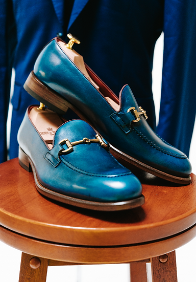 Ojih Navy Blue Loafer