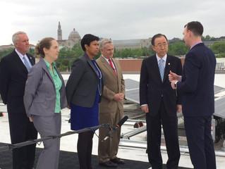 UN Secretary-General Ban Ki-Moon Visits Solar Project at Brookland Middle School
