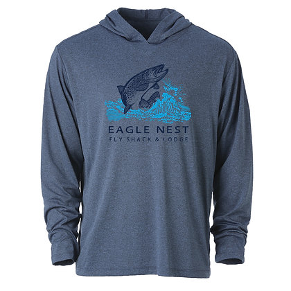 Trout Jump Performance Long Sleeve Blue