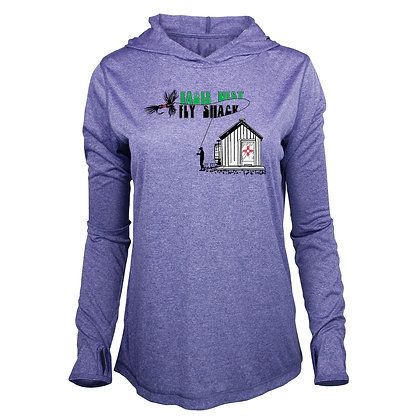 Women's Fly Shack Logo Performance Long Sleeve Purple