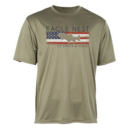 Trout America Short Sleeve Performance Olive