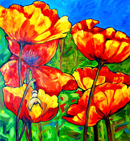 """""""Far and Wide, In Scarlet Tide, The Poppies Bonfire Spread"""""""