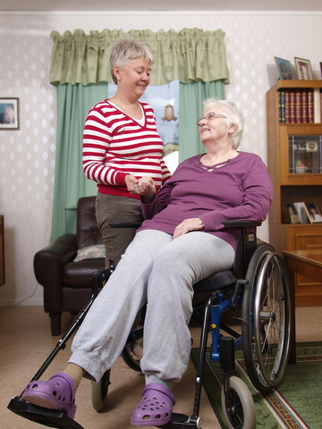 Carer and Mother in Wheel chair