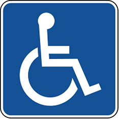 Wheelchair accessible symbol in Paint.pn