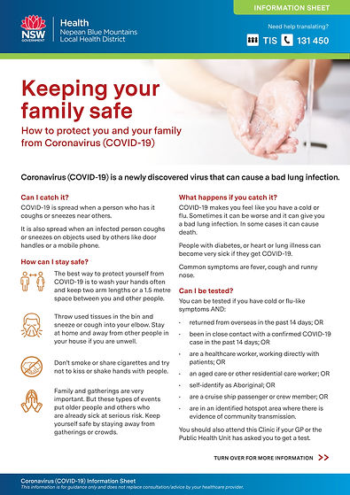 Keeping your family safe Coronavirus Inf
