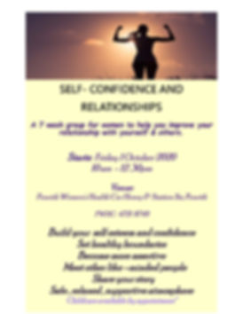 Confidence and Relationships Flyer T4 20