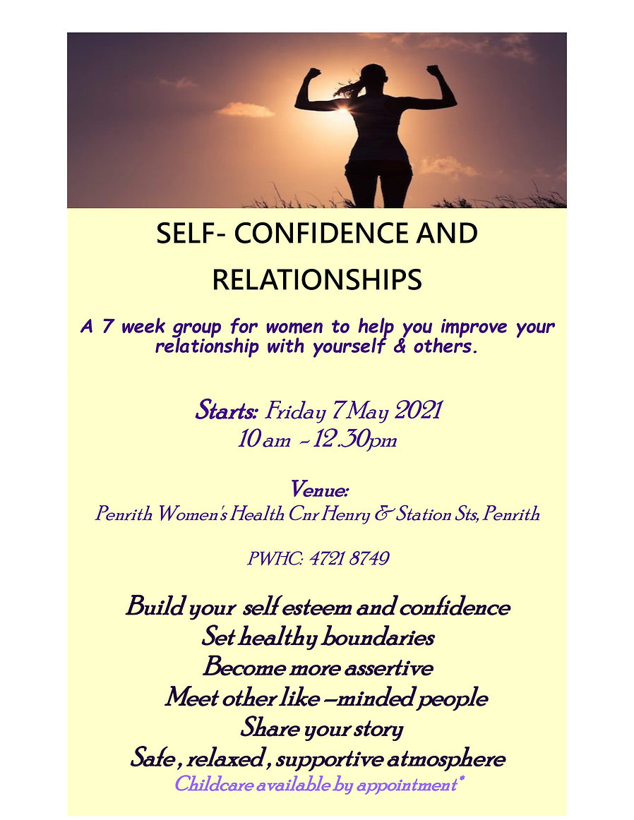 Confidence and Relationships Flyer 2021-