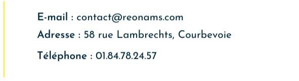Contact Reonams, entreprise de bâtiment