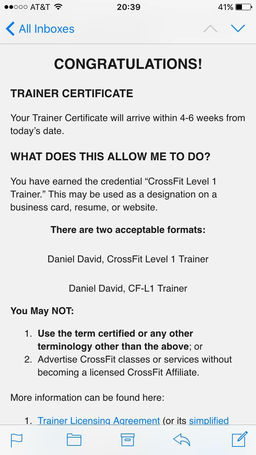 Crossfit solano wod blog he said i had to wait until it was official rich stemmer has completed his level 1 certification i would also like to announce because it wasnt platinumwayz