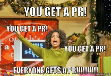 I sure hope to act like Oprah tomorrow