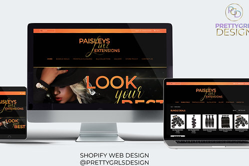 SHOPIFY GOLD PACKAGE WEB DESIGN