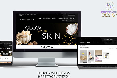 SHOPIFY SILVER PACKAGE WEB DESIGN