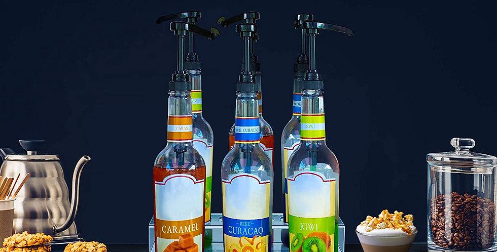 Acrylic Bottle Holder | Wine Display Riser | 6 Bottles, 2 Tier| 1 Unit