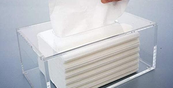 Clear Acrylic Tissue Box Holder Napkin Dispenser