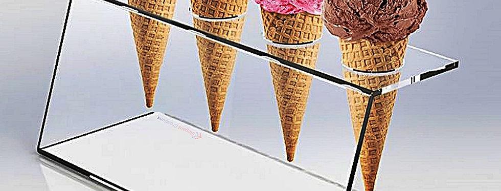 4 Holes Ice Cream Cone Holder Stand | 1 Unit
