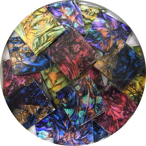 "3/4"" Van Gogh Glass Tiles, 8 oz., Four Color Mixes"