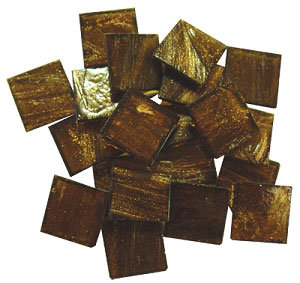 "3/4"" Gold Veined Venetian Glass Tiles, 16 oz., Many Color Choices"
