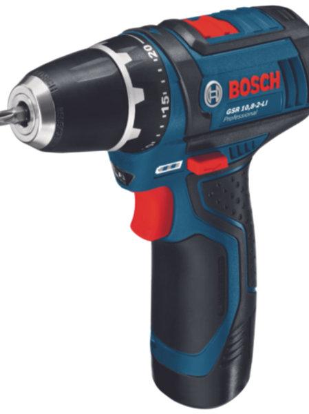 Trell-kruvikeeraja Bosch GSR 12V-15; 12 V; 2x2,0 Ah aku