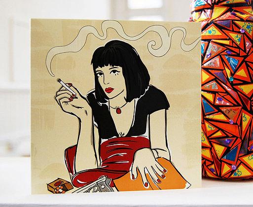 Mia Wallace Greetings Card BB
