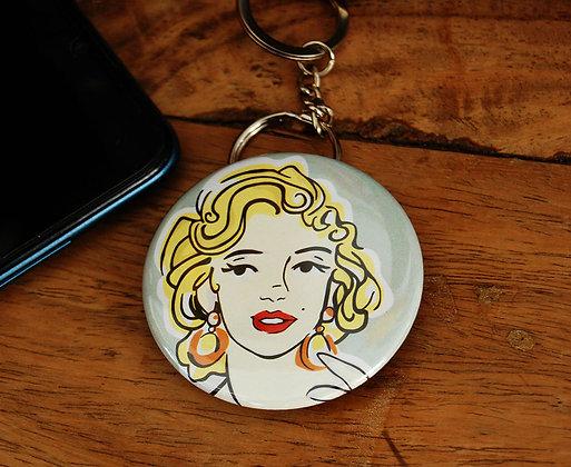Marilyn Monroe Bottle Opener Keyring BB