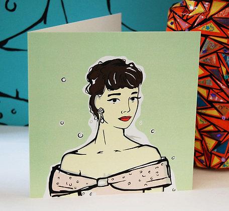 Audrey Hepburn Greetings Card BB
