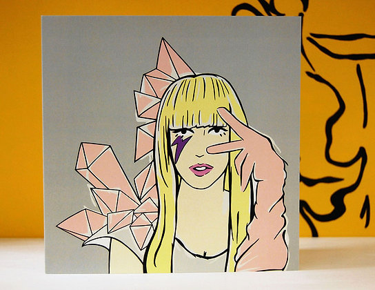 Lady Gaga Greetings Card BB