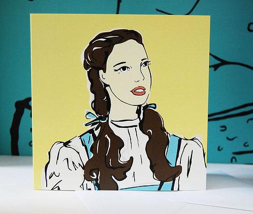 Judy Garland Dorothy Greetings Card BB