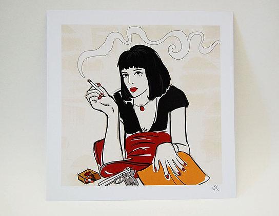 Mia Wallace Art Print BB