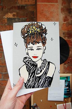 Audrey Hepburn Portrait Card BB