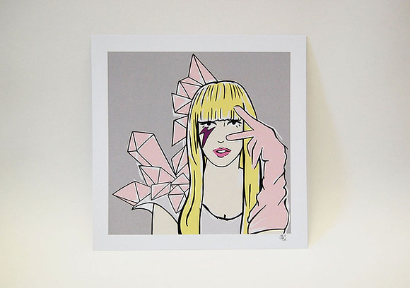 Lady Gaga Art Print BB