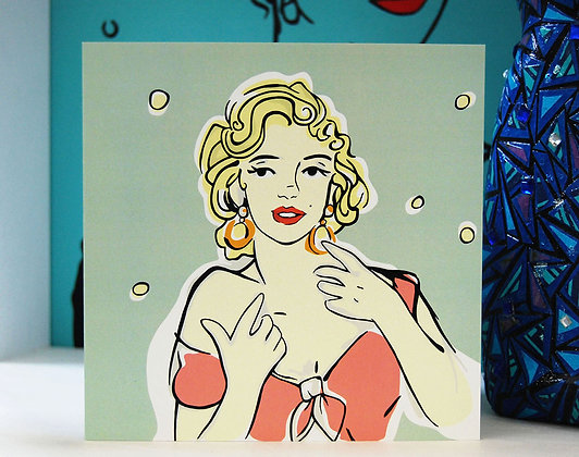 Marilyn Monroe Greetings Card BB