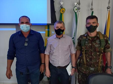 Prefeito Tamir Sá se reúne com o Coordenador do programa Calha Norte