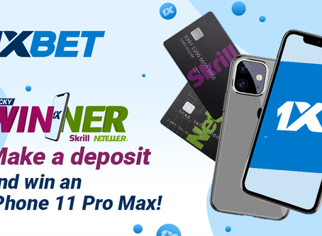 Make a deposit and win an iPhone 11 Pro Max !