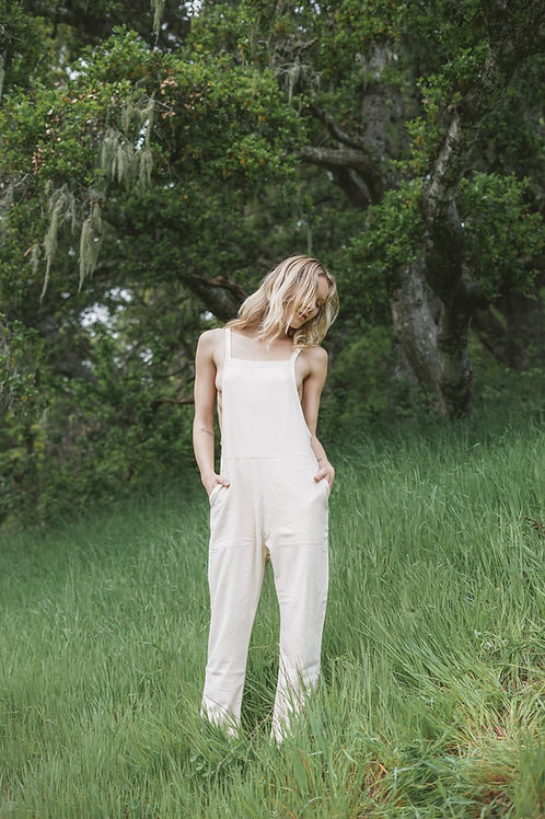 overall in raw silk