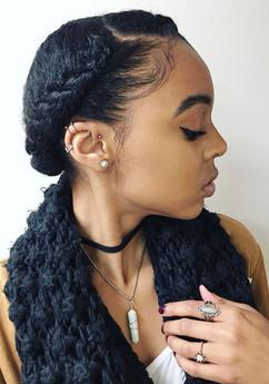 braided crown hairstyle black girls
