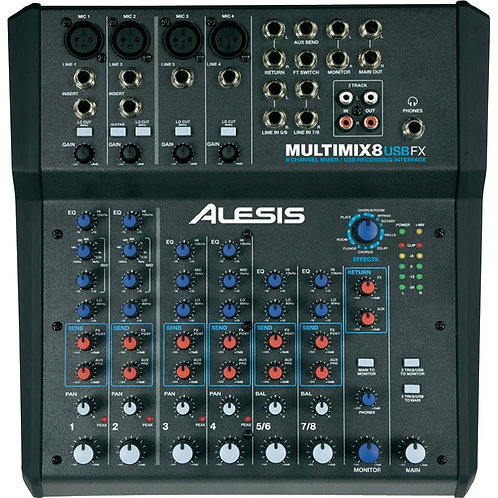 Mixer Professionale Alesis Multimix 8 USB FX