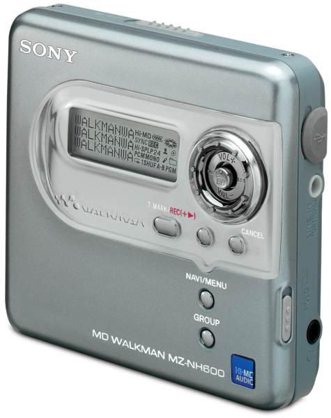 Lettore Mini Disc Sony MZ NH 600