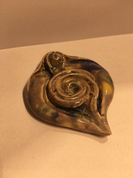 Gray Spiral Aroma Stick Holder, Vagina Shape