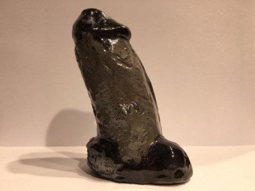 Big Black Erected Phallus Sculpture