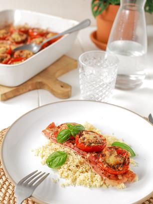 Roulé de jambon tomate