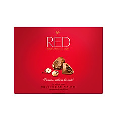 RED DIAMOND PRALINES WITH SMOOTH NUT FILLING